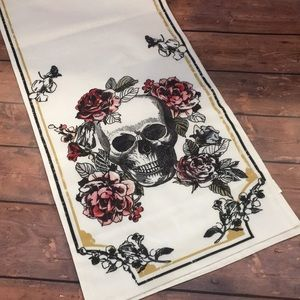 Halloween Sugar Skull Table Runner NWT Decor Fall